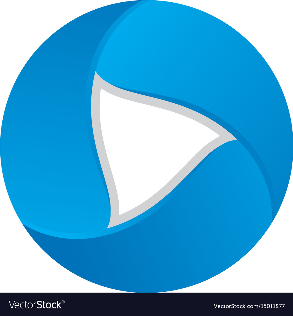 Play button 3d business logo image vector image