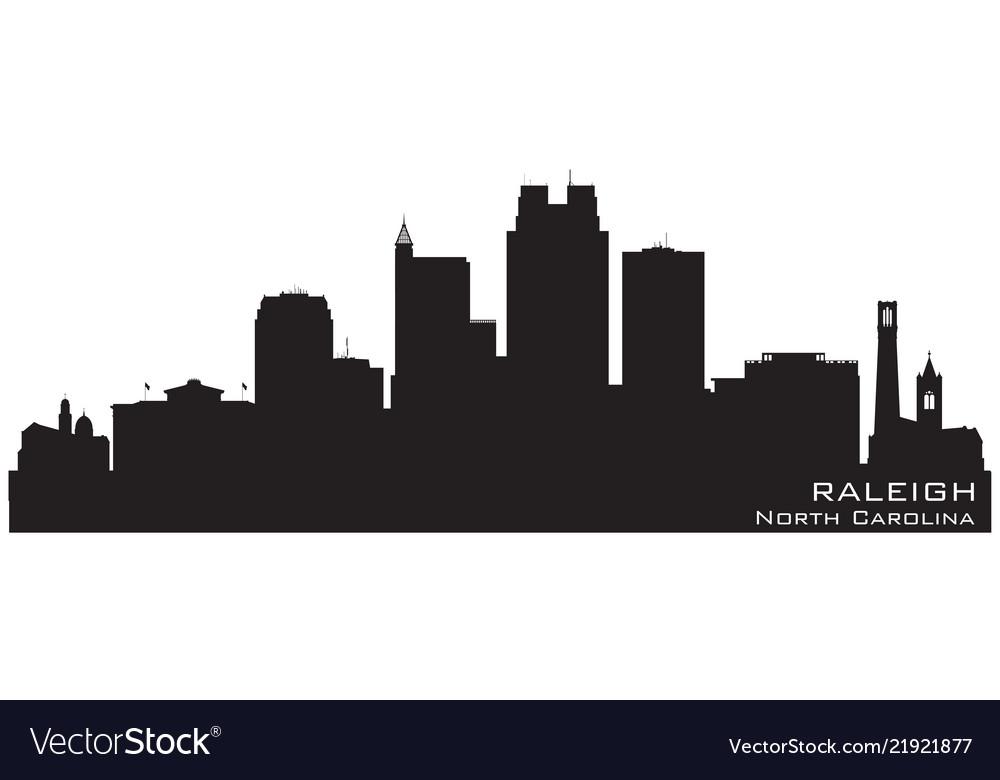 Raleigh north carolina city skyline silhouette