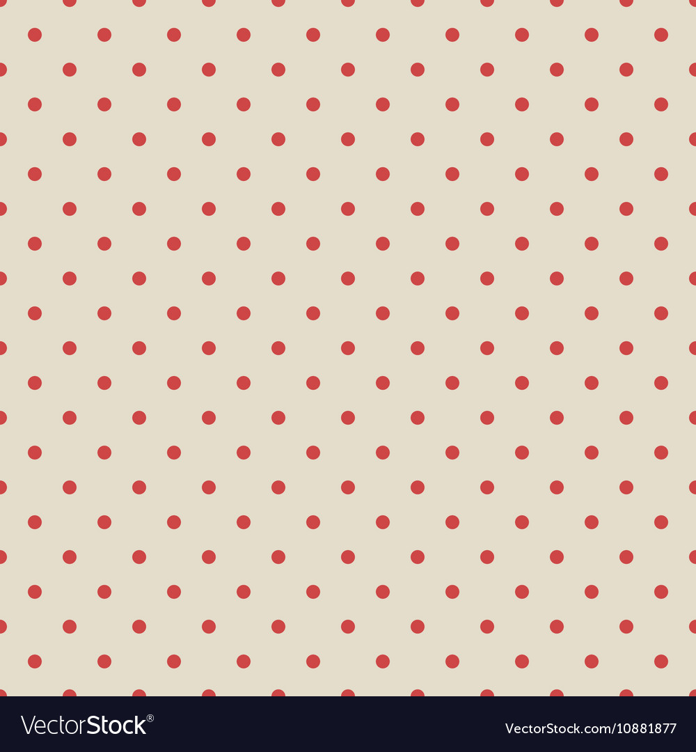 Red vintage polka dot seamless pattern on fabric