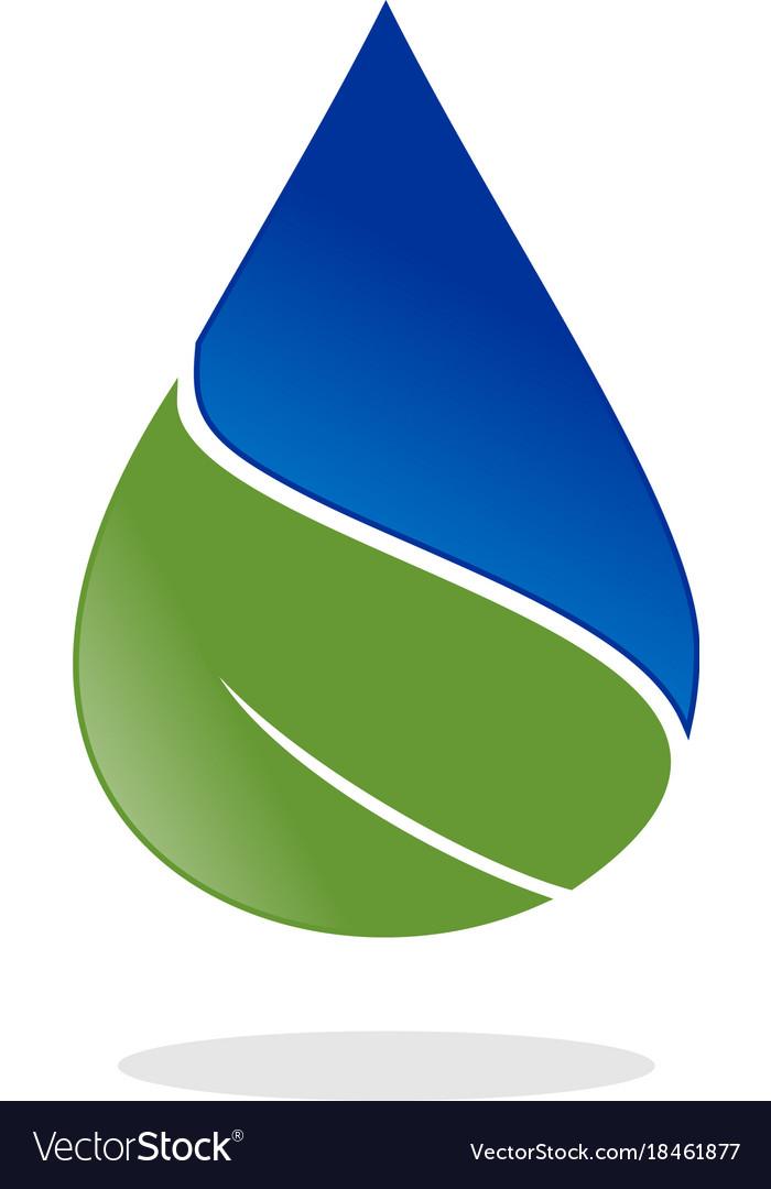 Water drop leaf nature logo