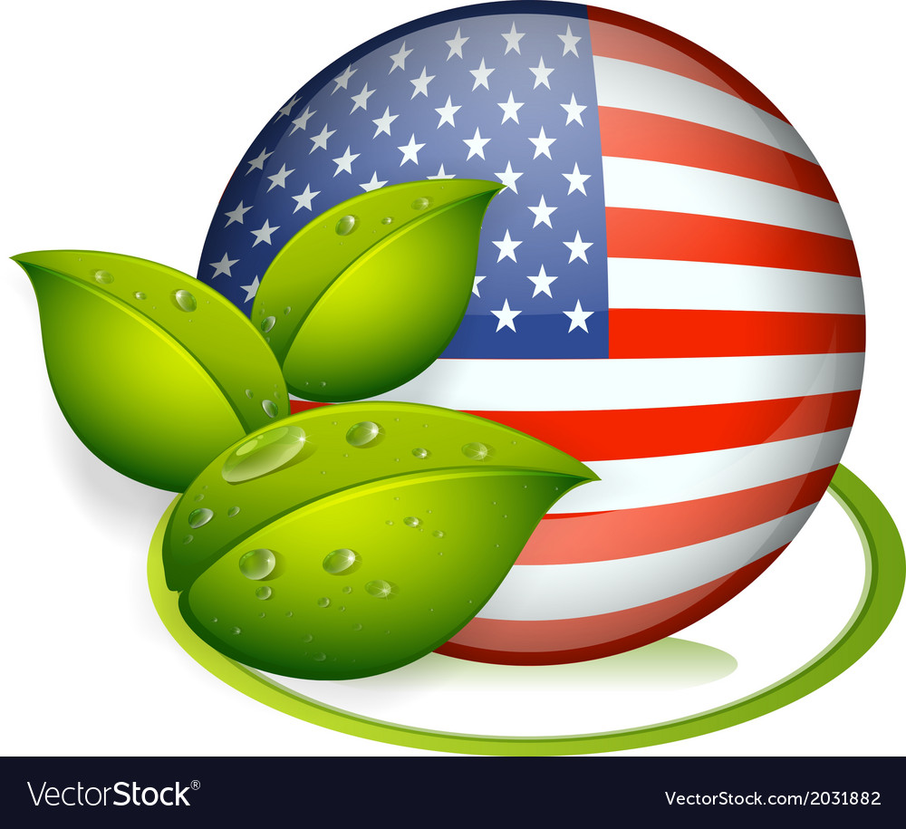 A ball with the flag of the United States and with