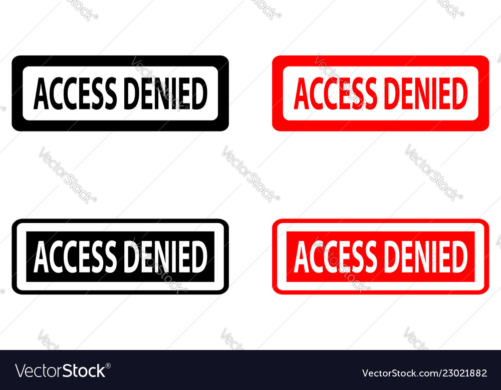 Access denied rubber stamp vector image on VectorStock