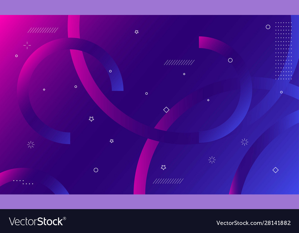 Colorful geometric background dynamic shapes