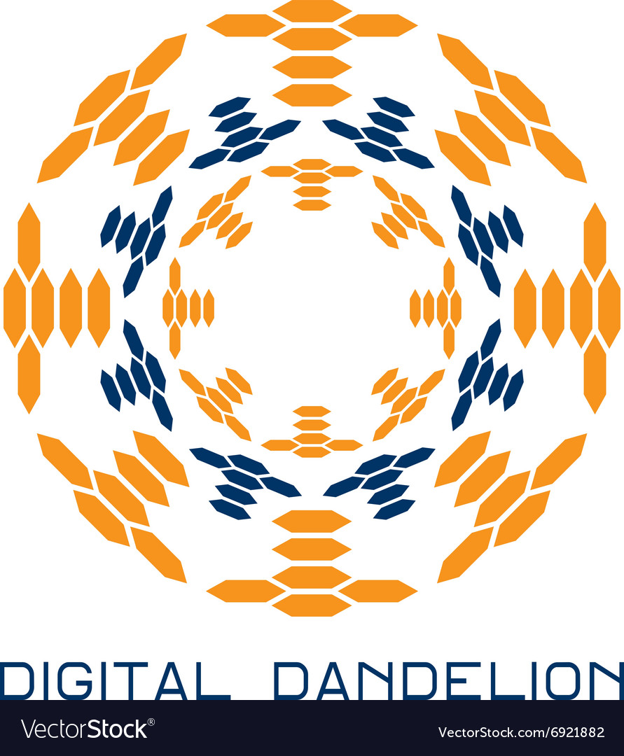 Concept digital dandelion logo