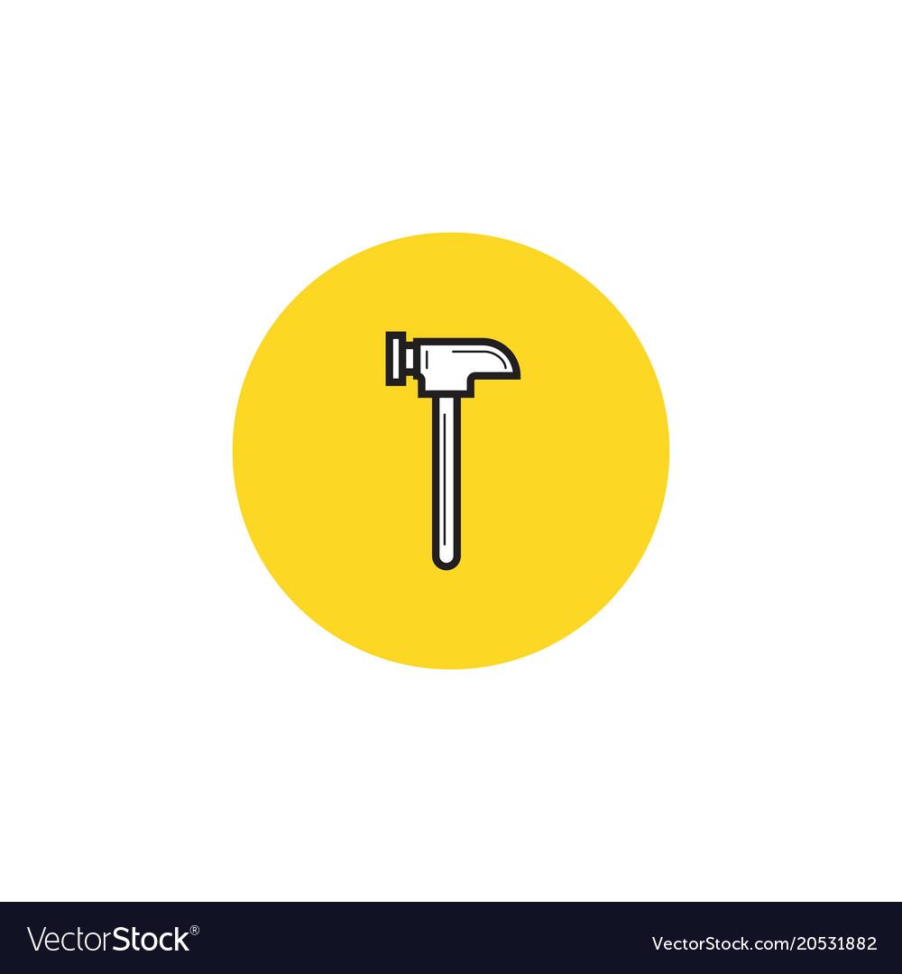 Hammer icon stock flat design