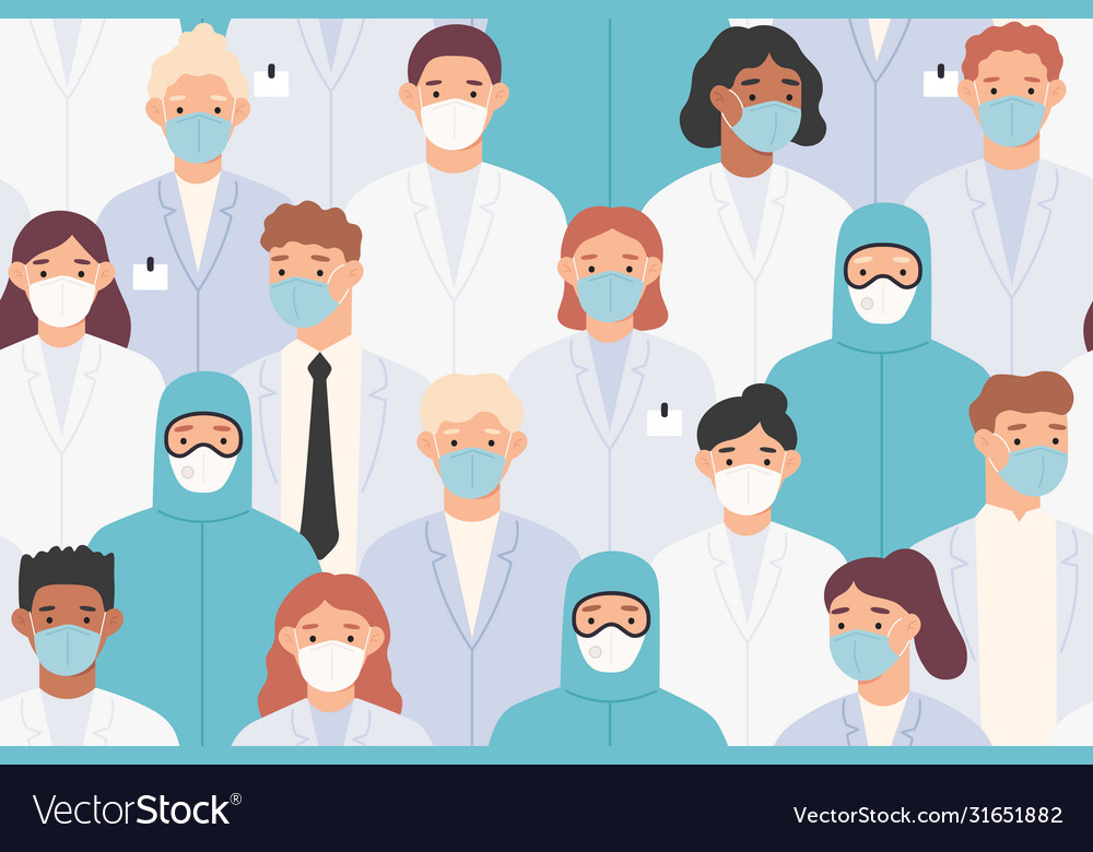 Hospital staff pattern doctors and nurses in