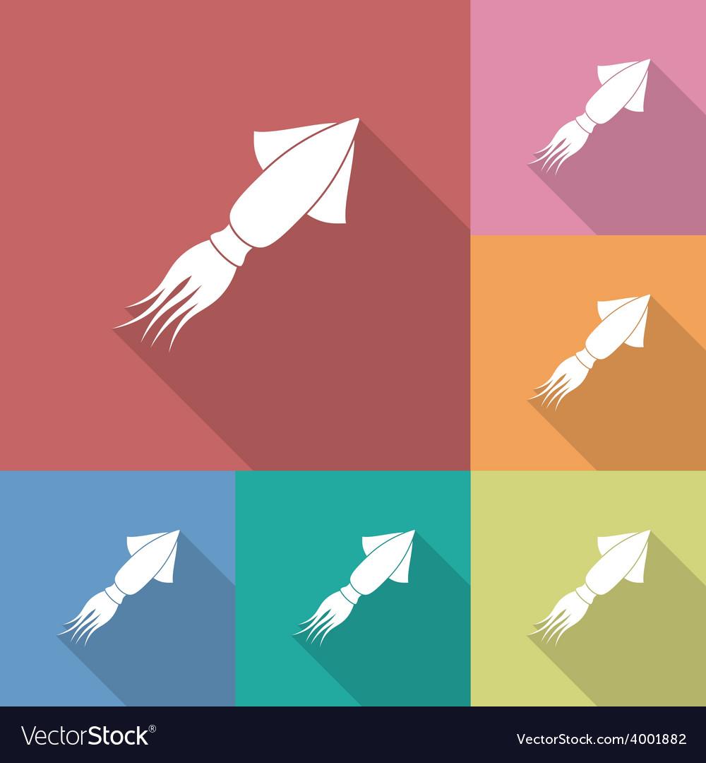 Icon of Squid vector image