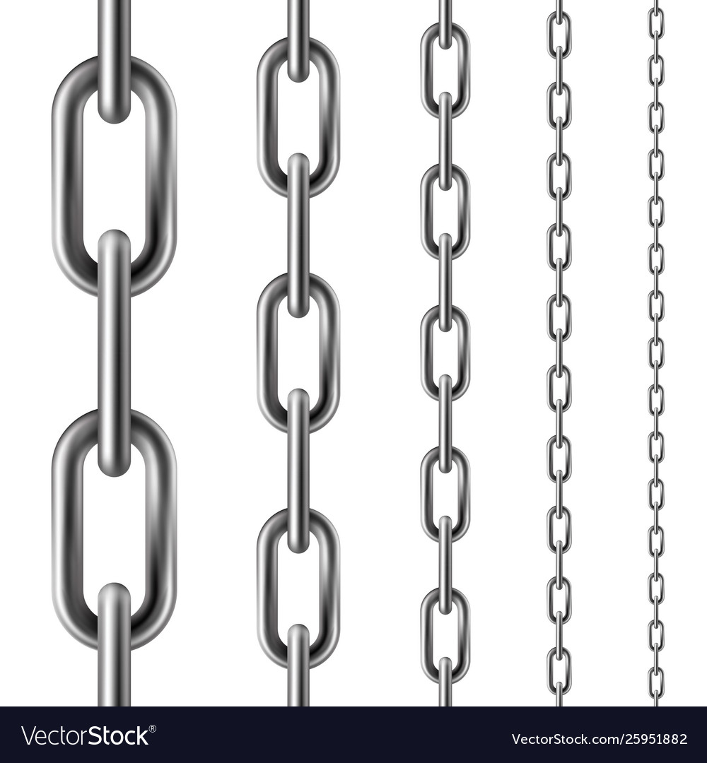 Metal chain seamless pattern metallic industrial