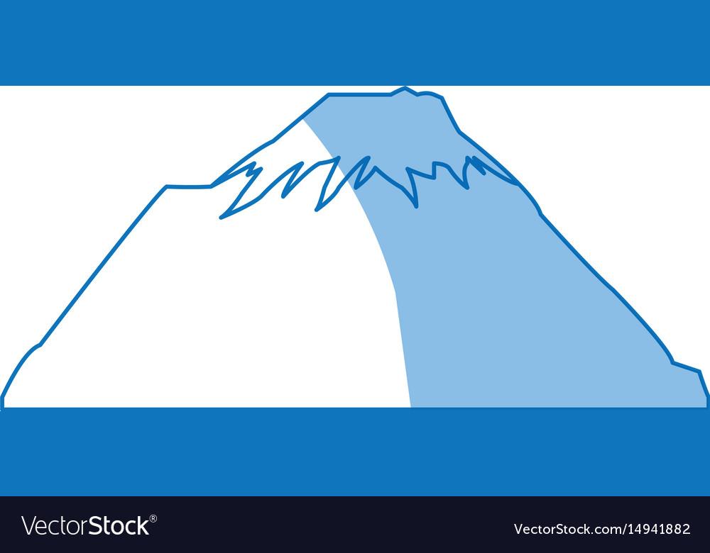 Mountain snow peak natural shadow image vector image