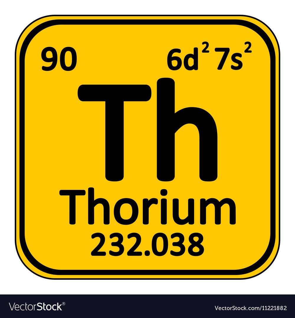 Periodic Table Element Thorium Icon Royalty Free Vector