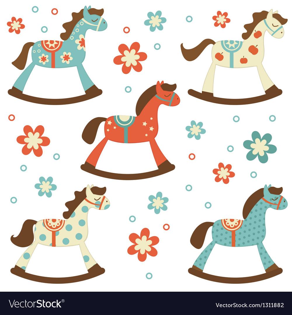 Rocking horses vector image