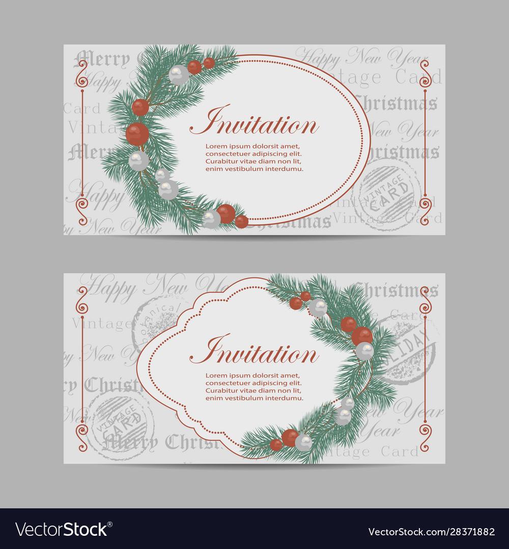 Set horizontal banners merry christmas and new