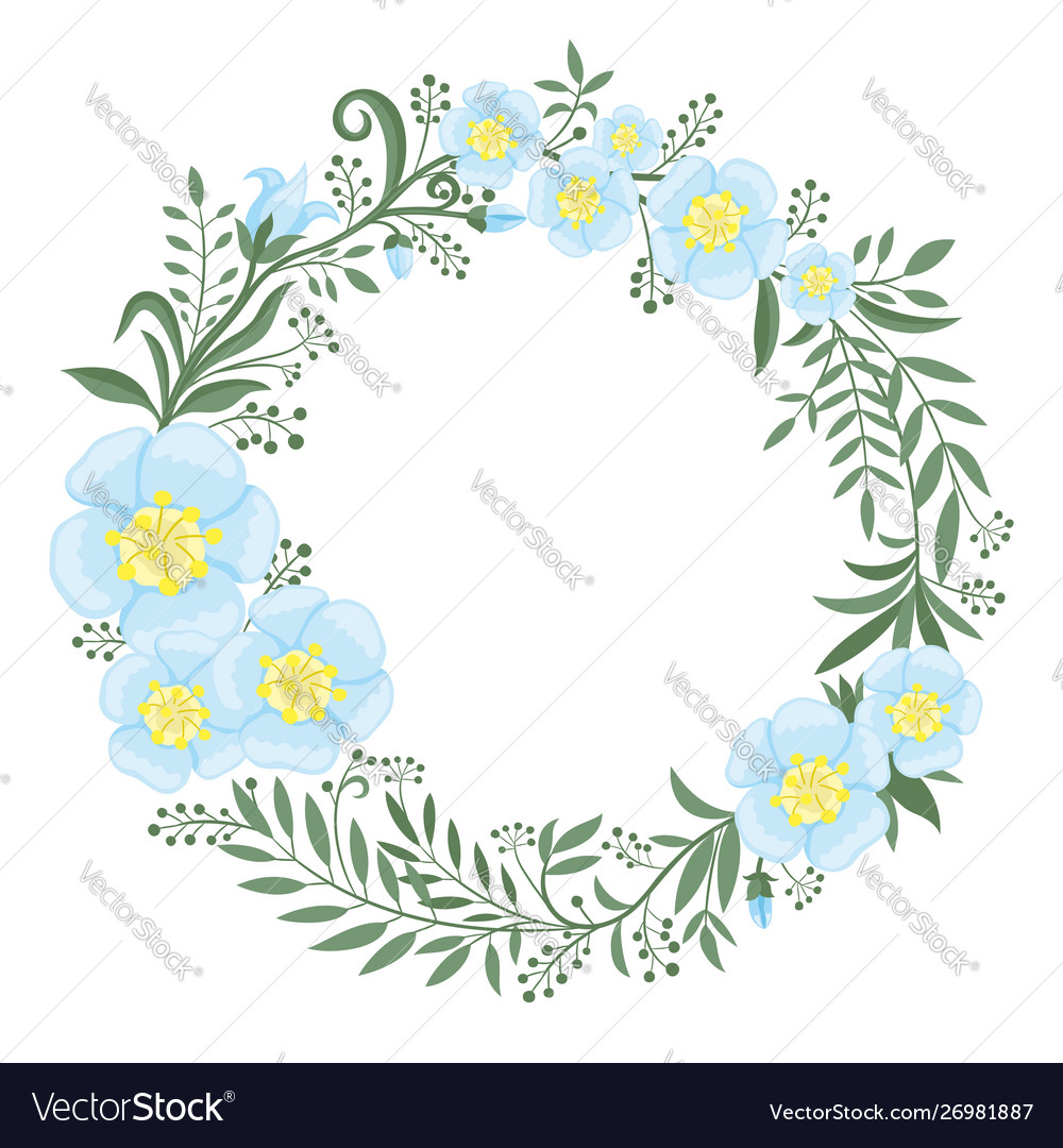 Beautiful wreath flowers and plants