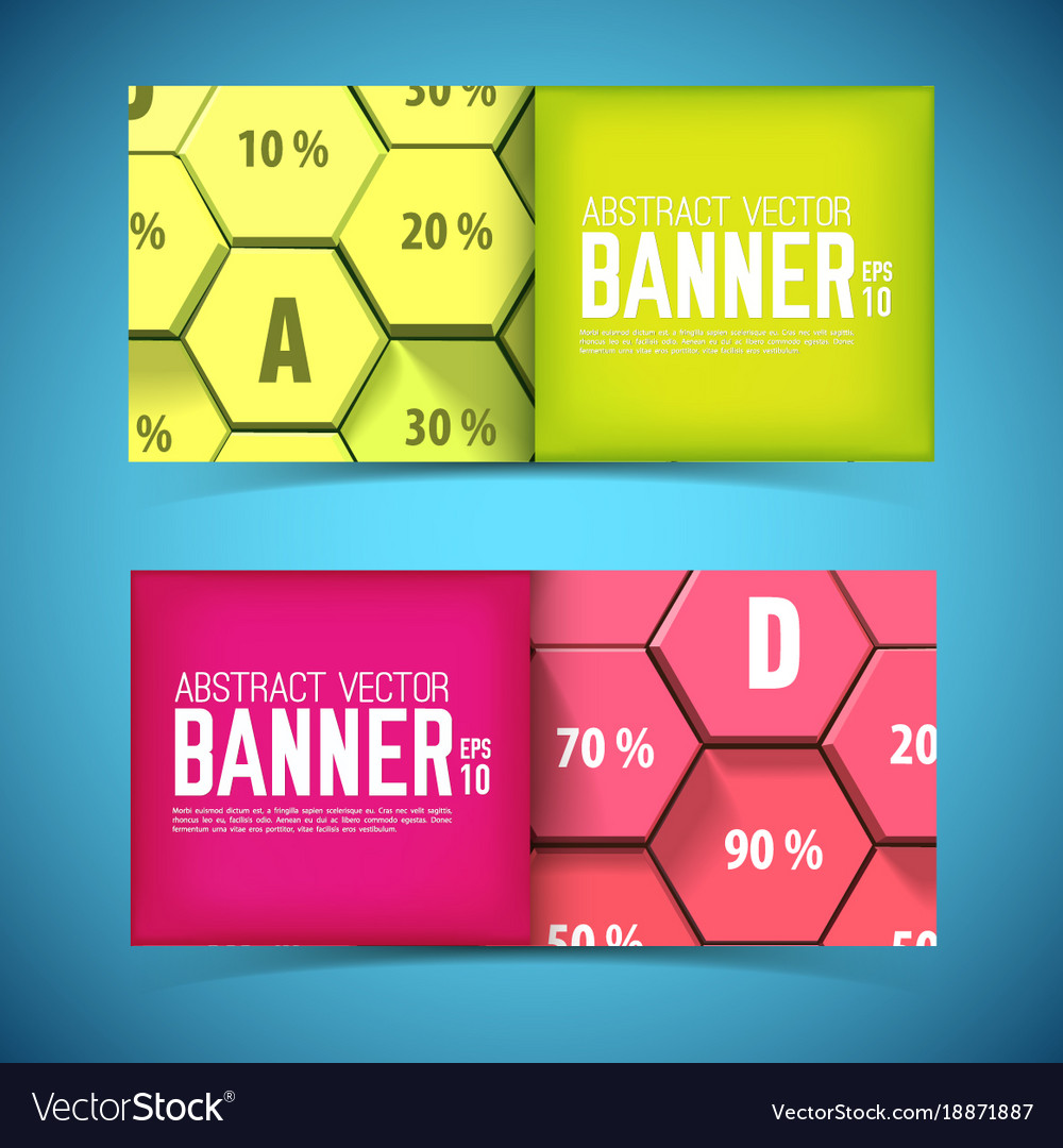 Business geometric horizontal banners