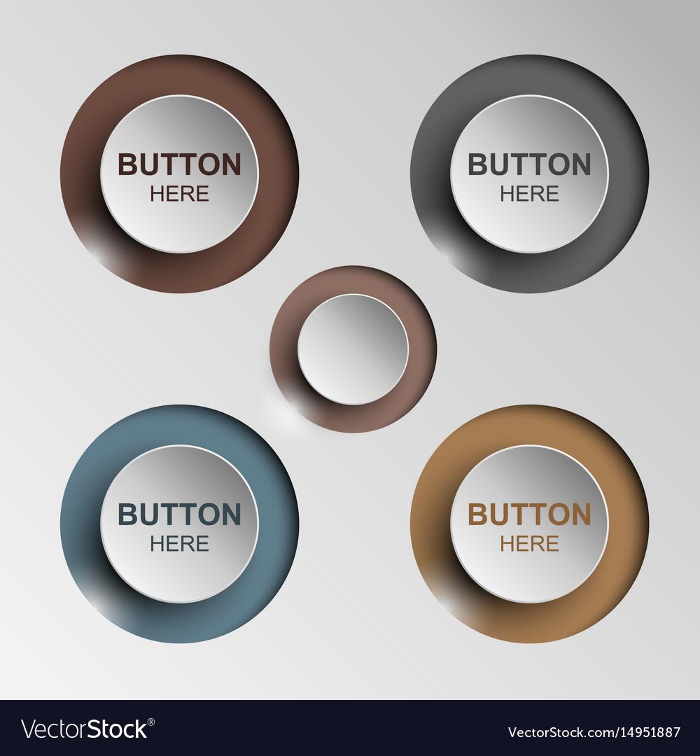 Button sleek brown for web design