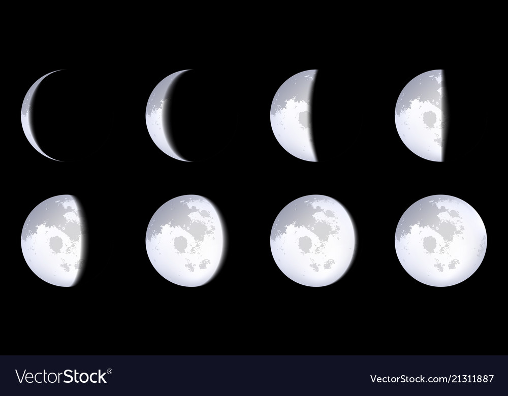 Creative of realistic moon