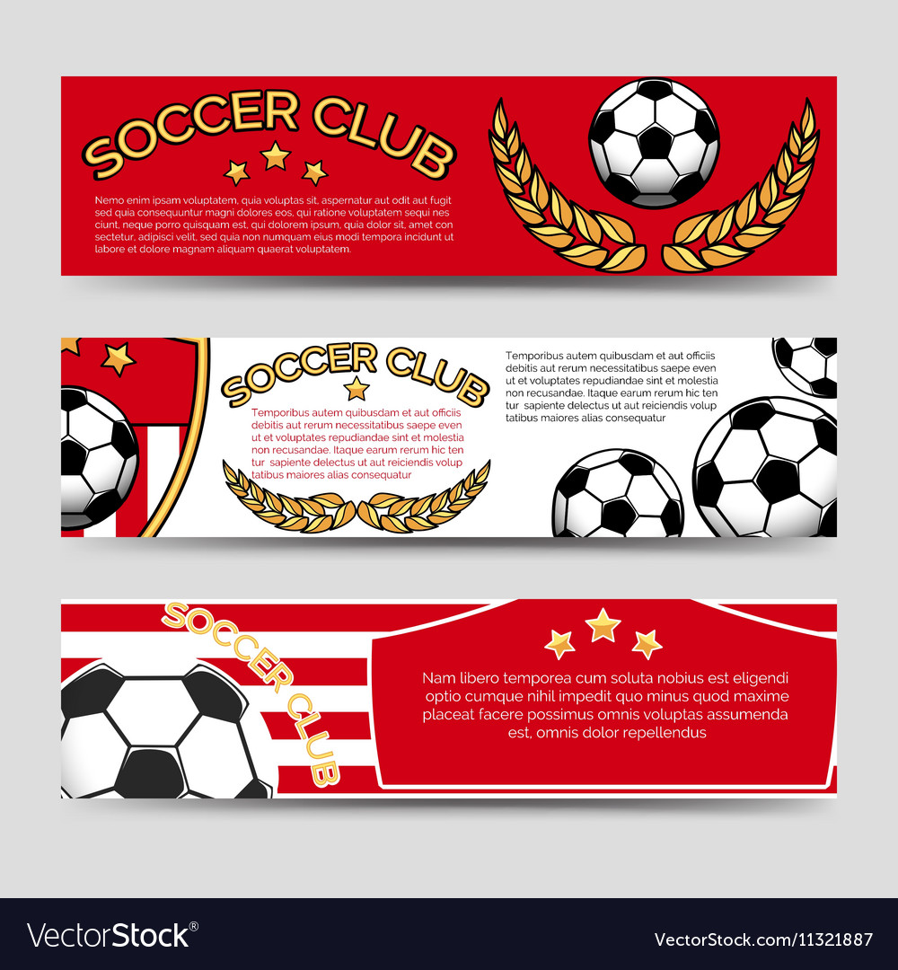 Footbal banners set