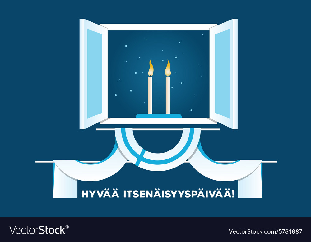 Happy Independence Day of FInland vector image