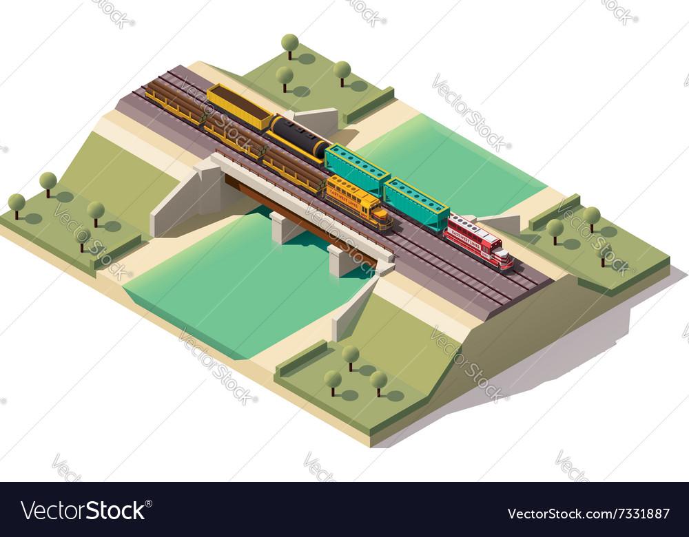 Isometric train bridge