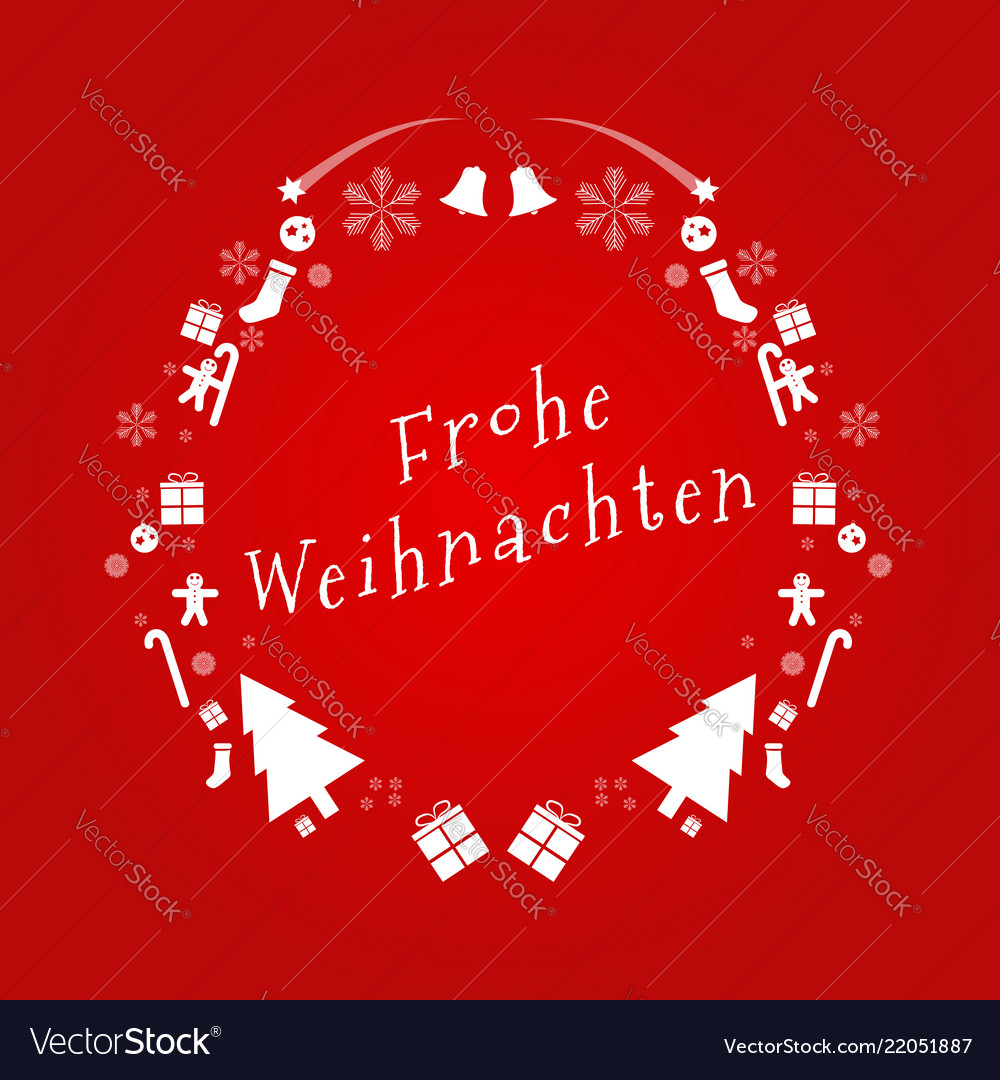 Merry christmas text in german design
