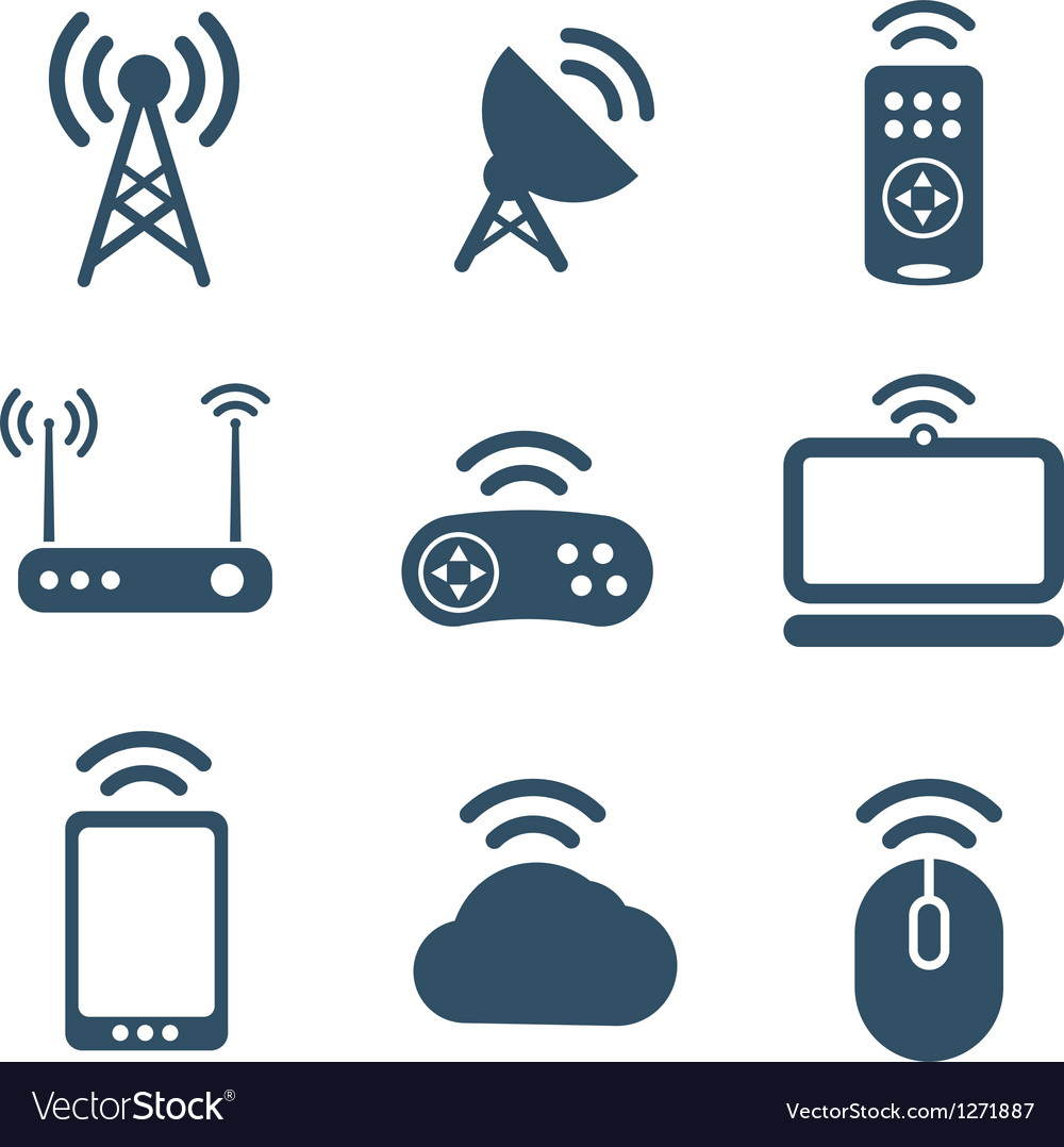 Wireless equipment icons collection