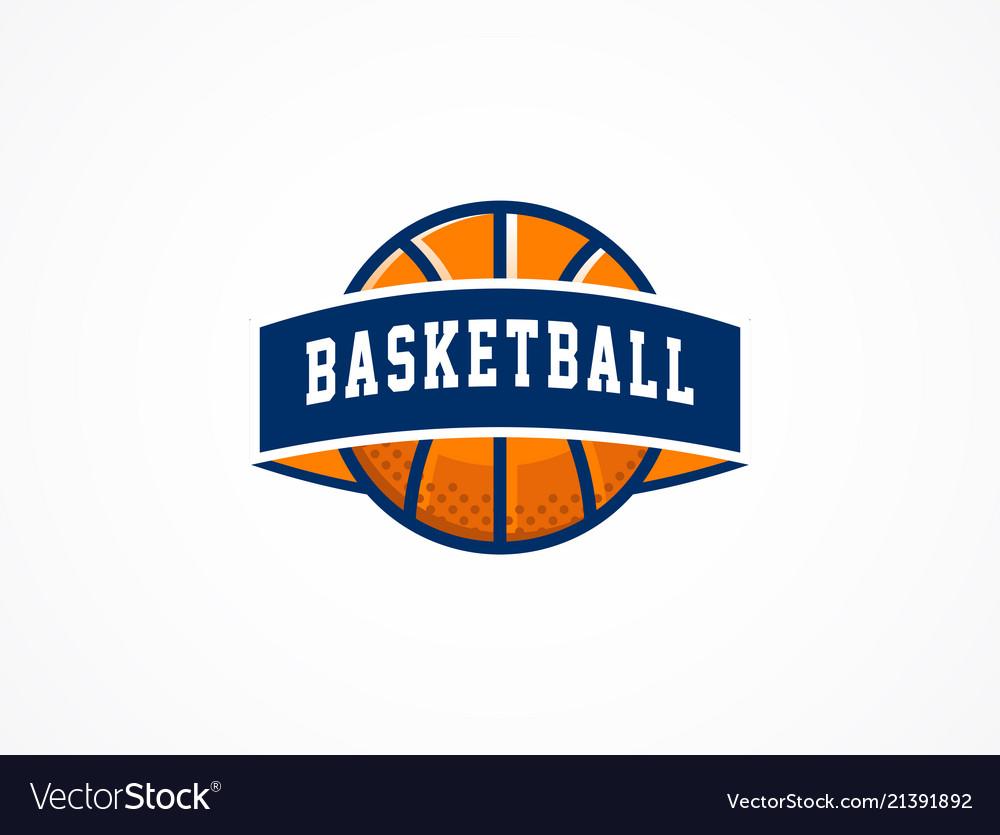 Basketball logo american sports symbol and icon