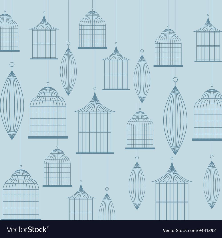 Birdcages icon Decoration object vintage concept