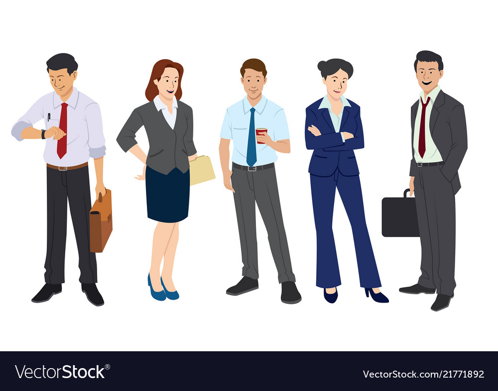 Business worker in flat style