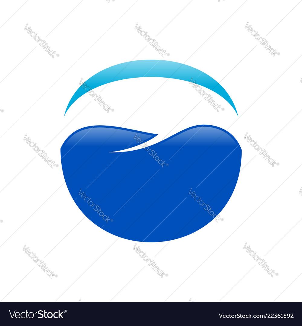 Dental care heaven blue symbol design
