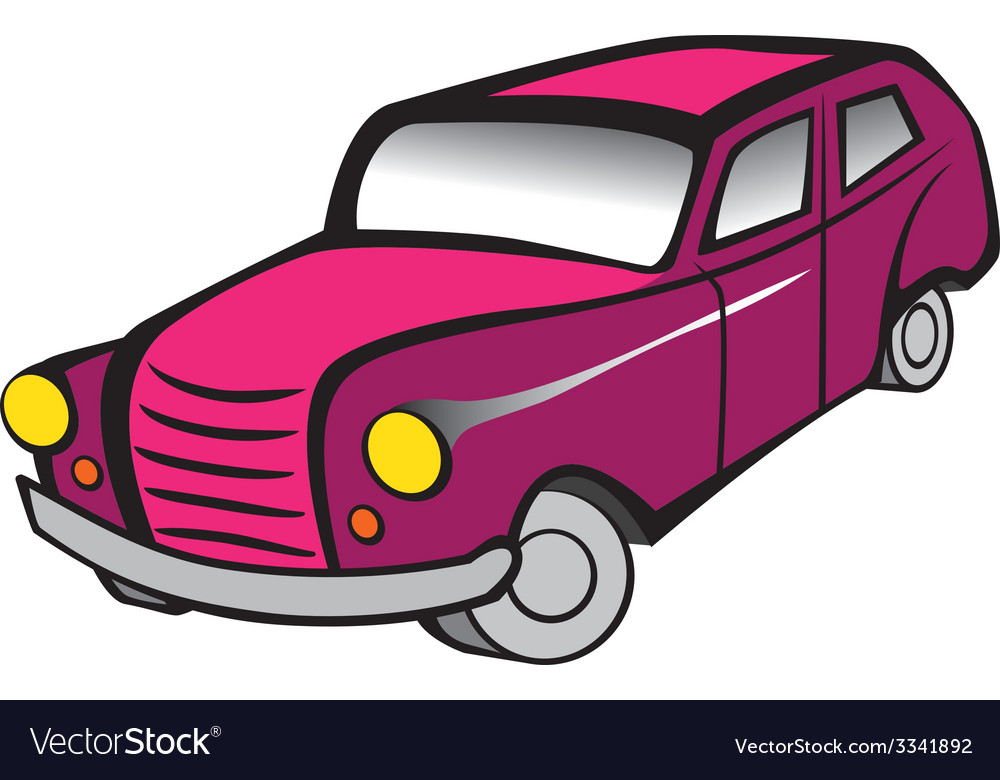 Old Car 2 Pink