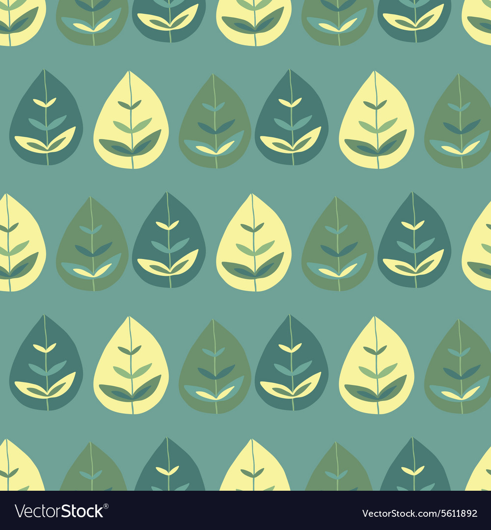 Seamless pattern Cute forest