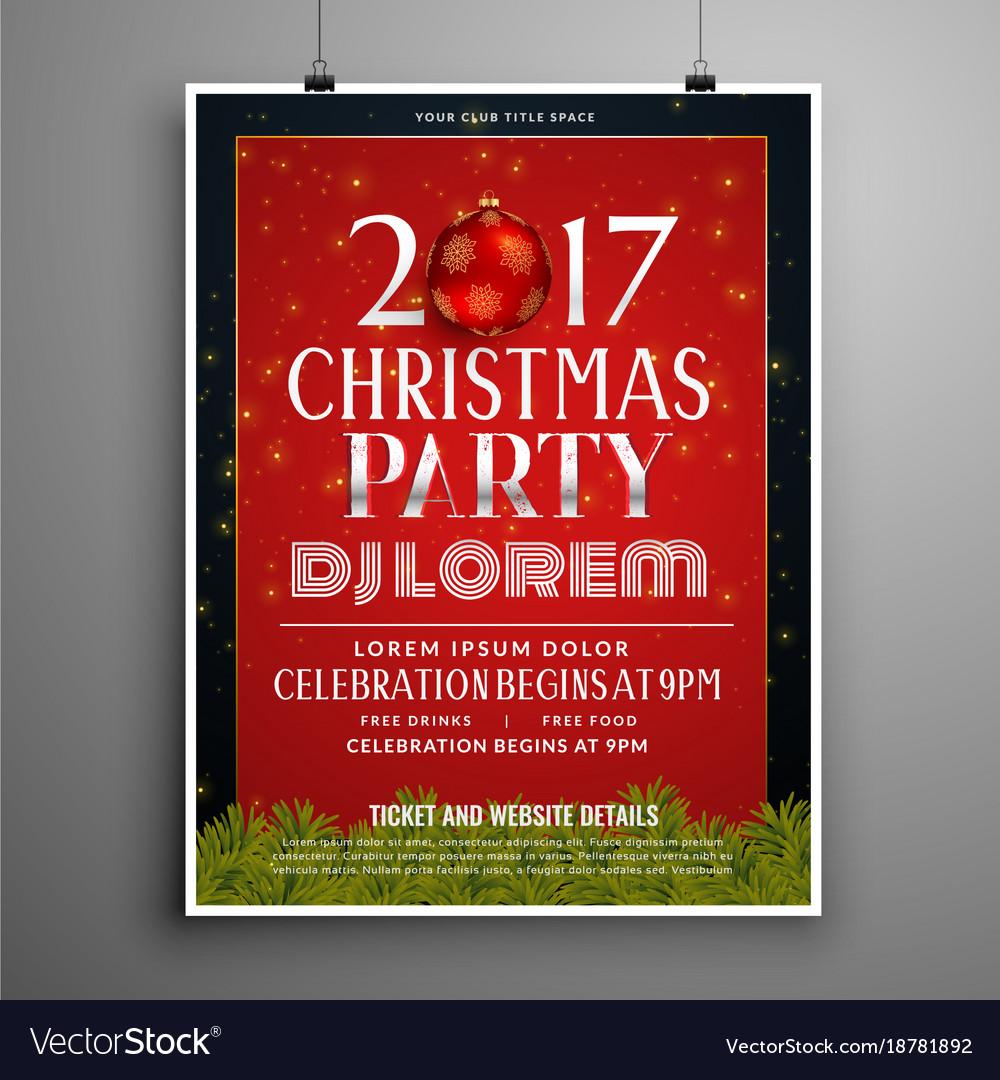 Stylish christmas celebration invitation template Vector Image