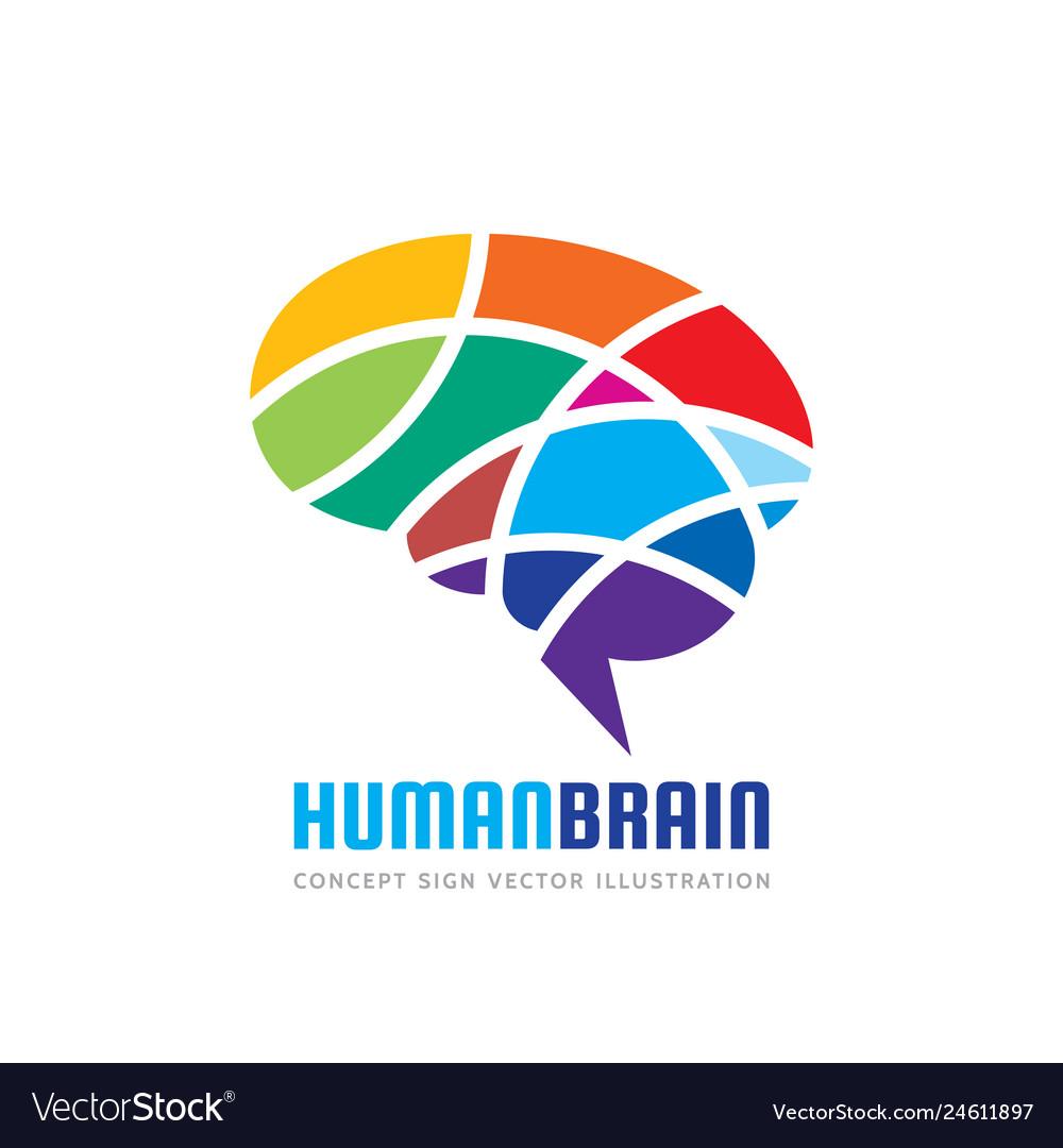 Abstract human brain - business logo