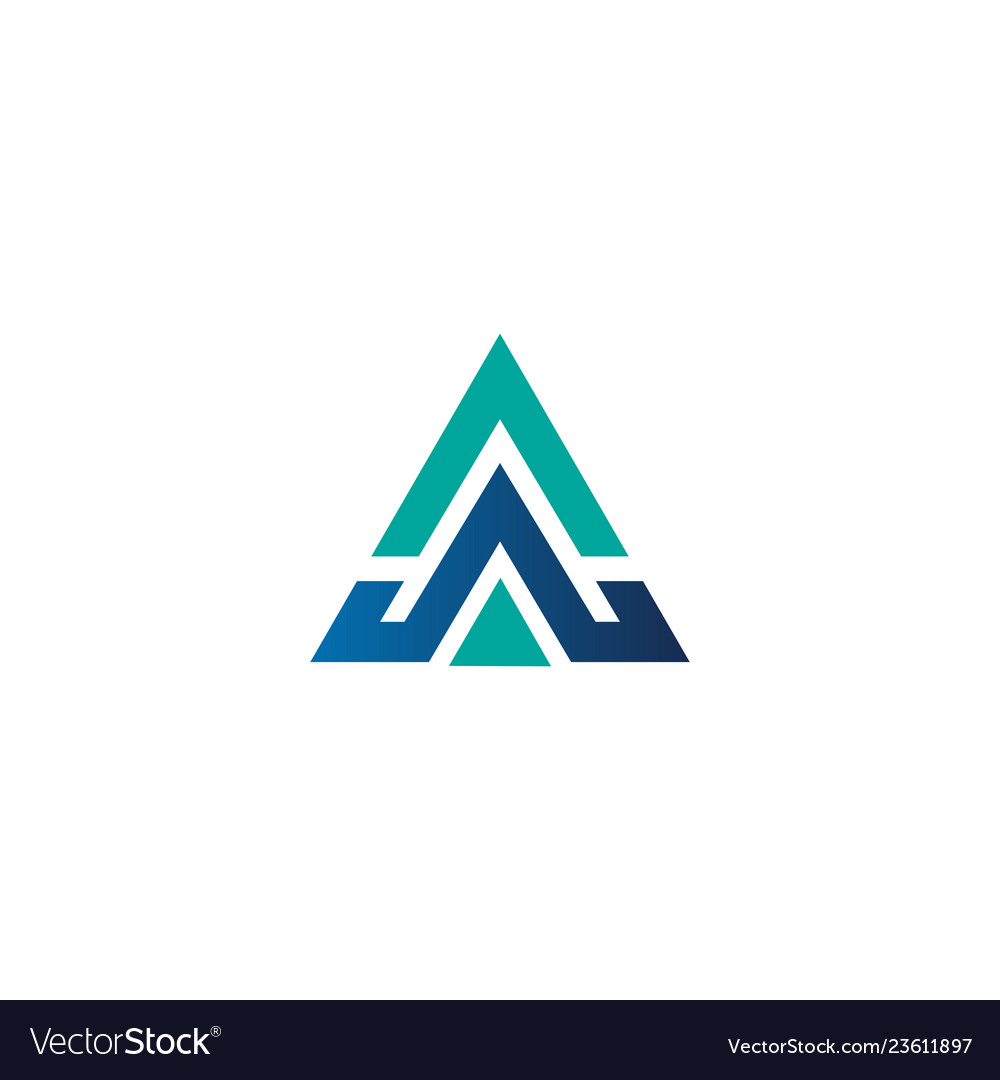 Abstract letter a business logo