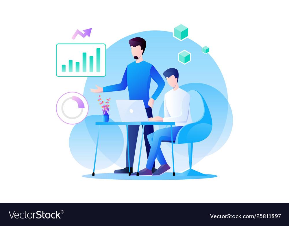 Businessman teamwork is working on analytics of