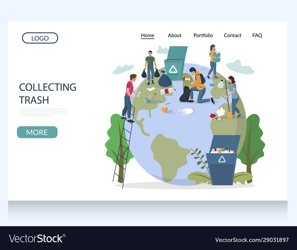 Collecting trash website landing page
