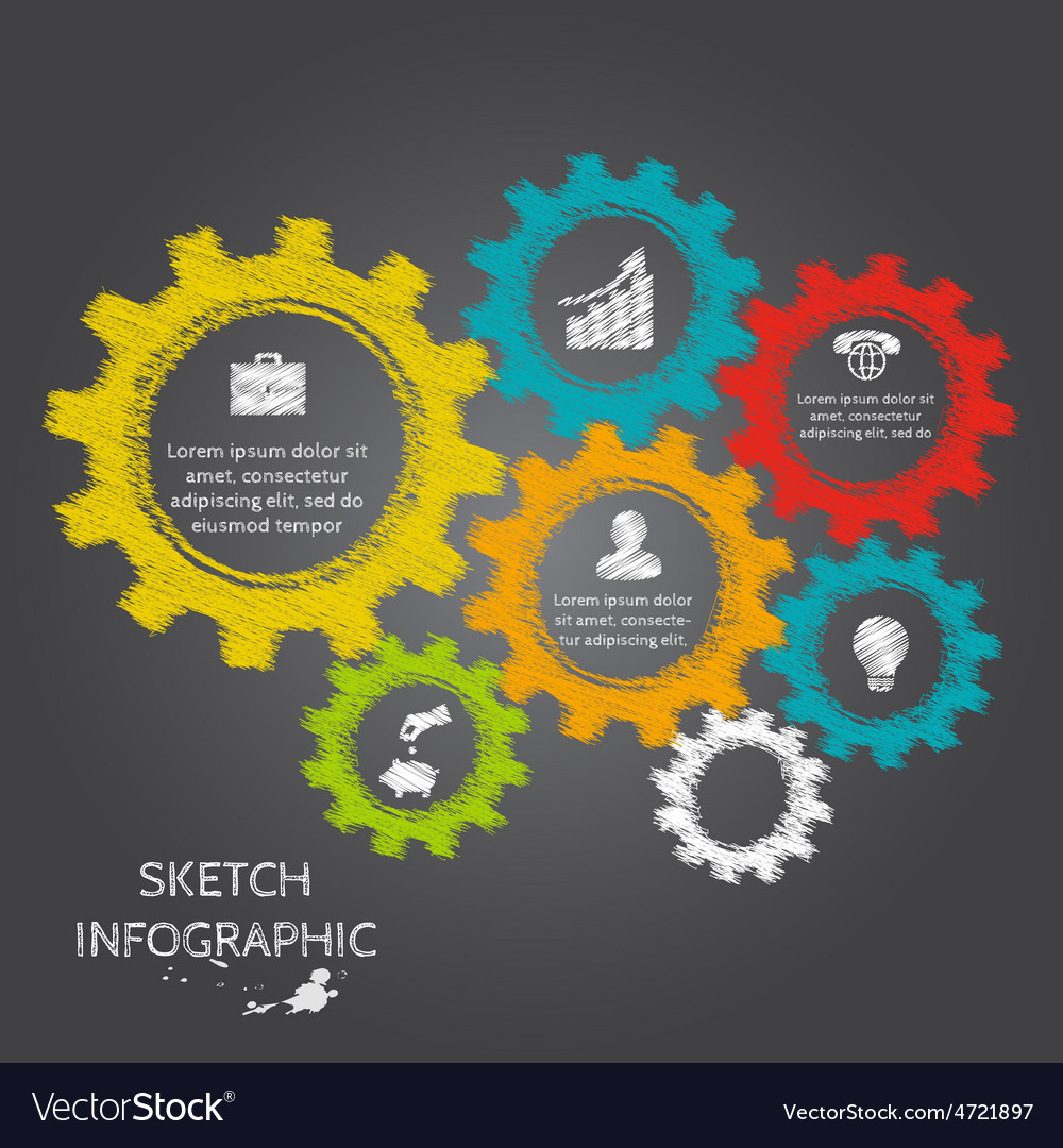 Doodle sketch elements for infographic