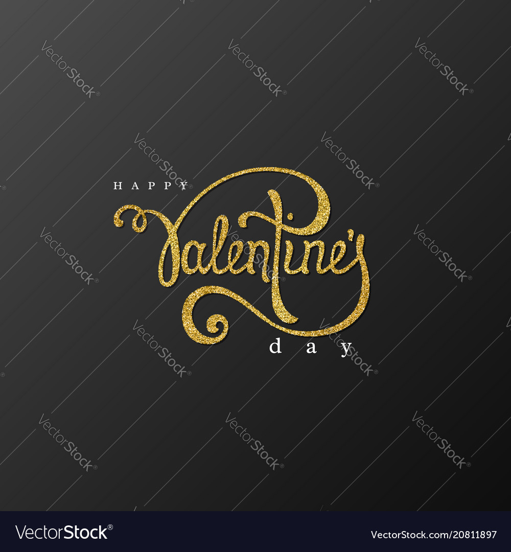 Happy valentines day handwriting lettering