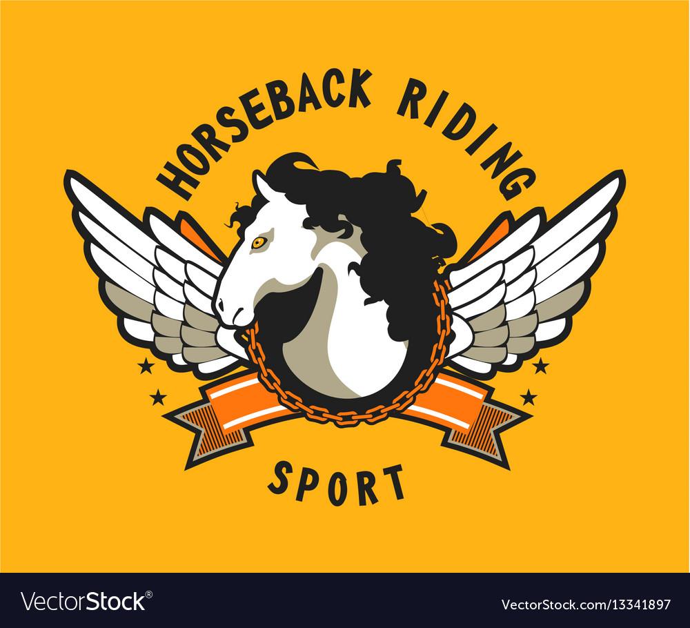 Horse sport sign