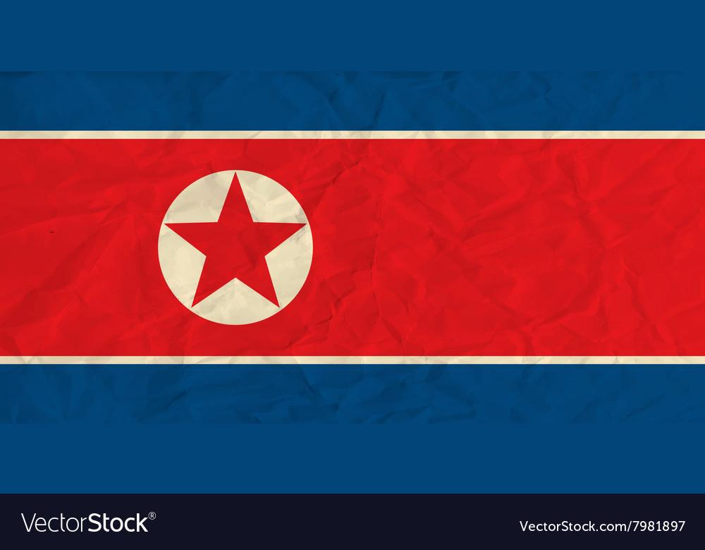 North korea paper flag
