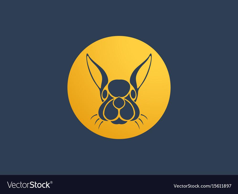 Rabbit logo icon design template