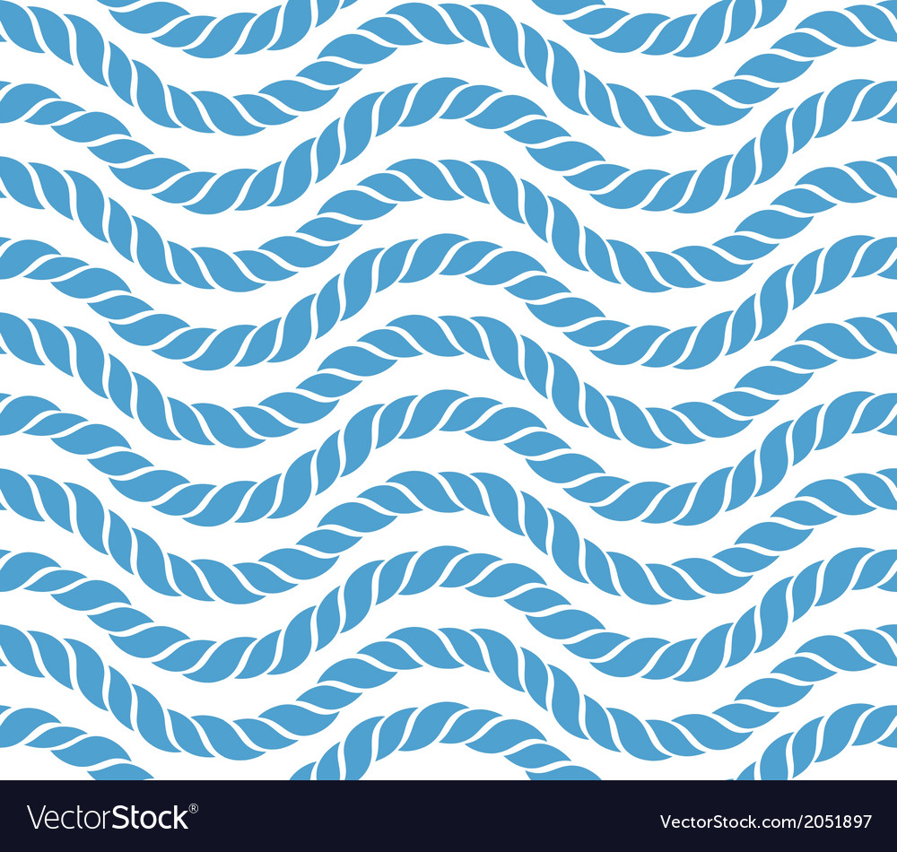 Ropes seamless pattern vector image