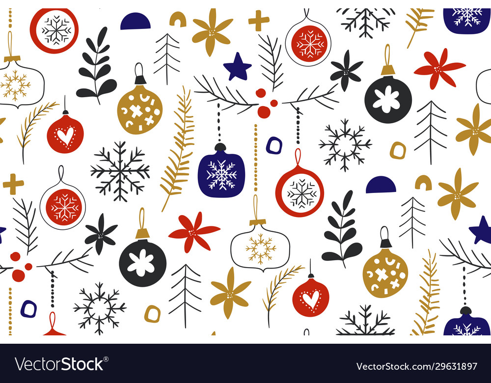Winter seamless repeat patterns with christmas
