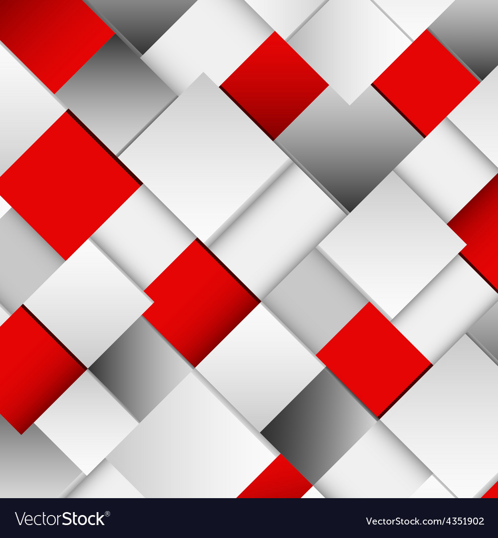 Abstract white and red square background