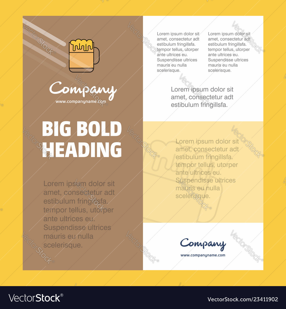 Beer business company poster template with place