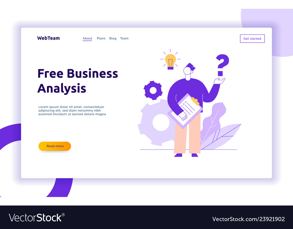 Flat line style business and idea design