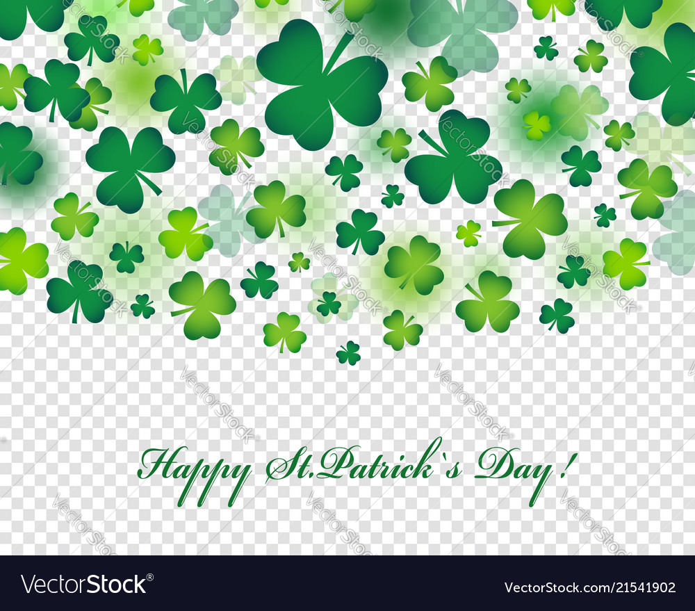 Happy st patricks day card or background with