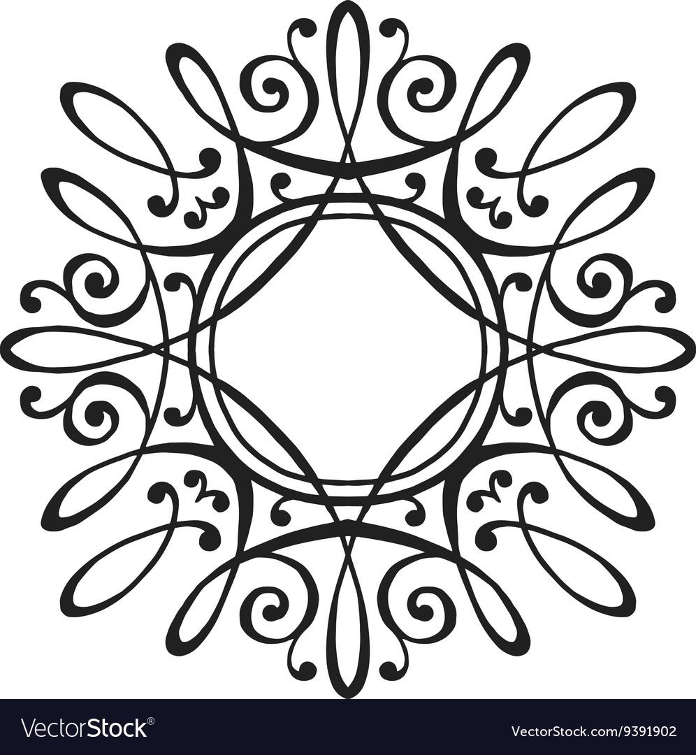 luxury monogram template royalty free vector image