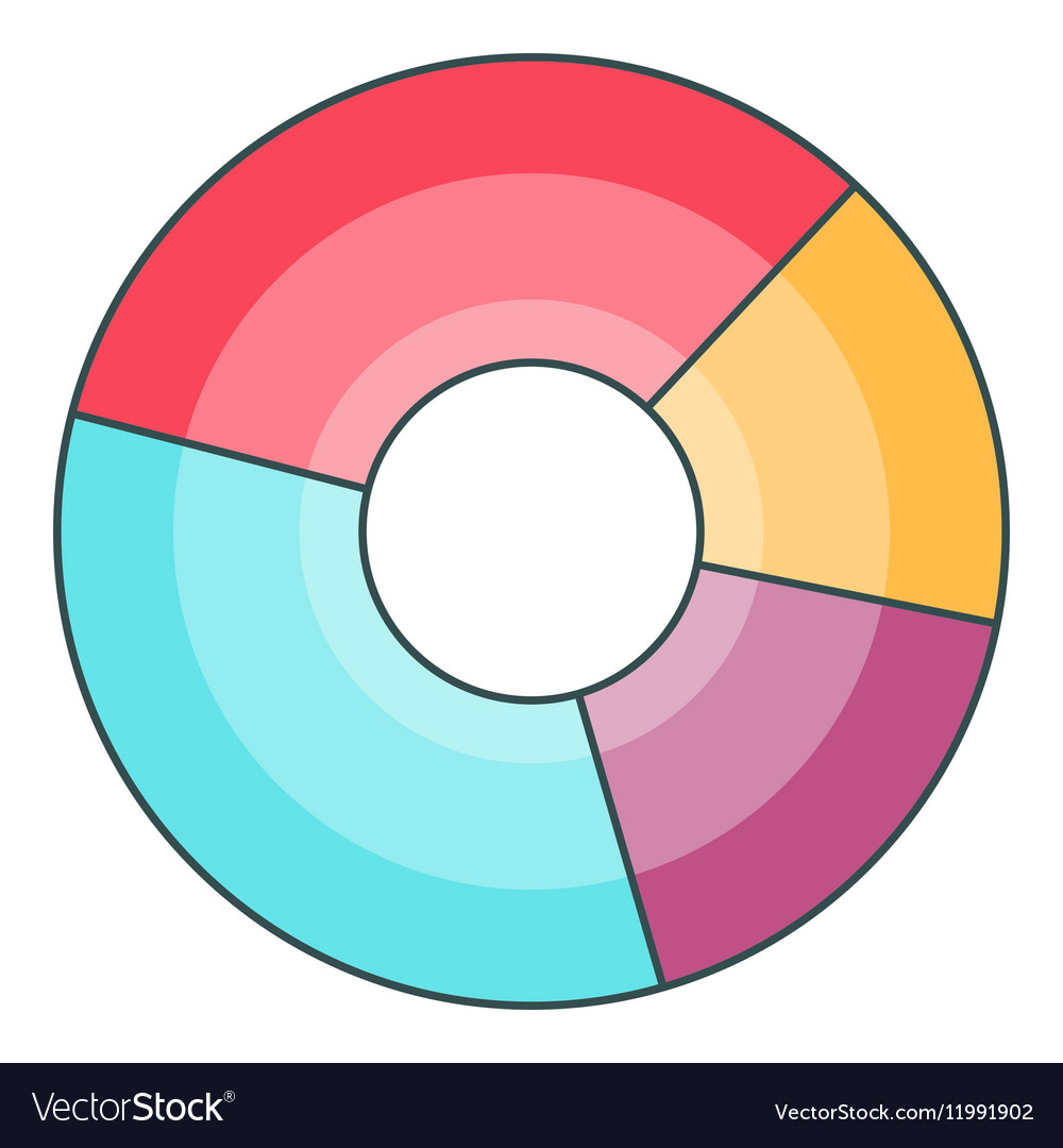 pie chart icon cartoon style royalty free vector image