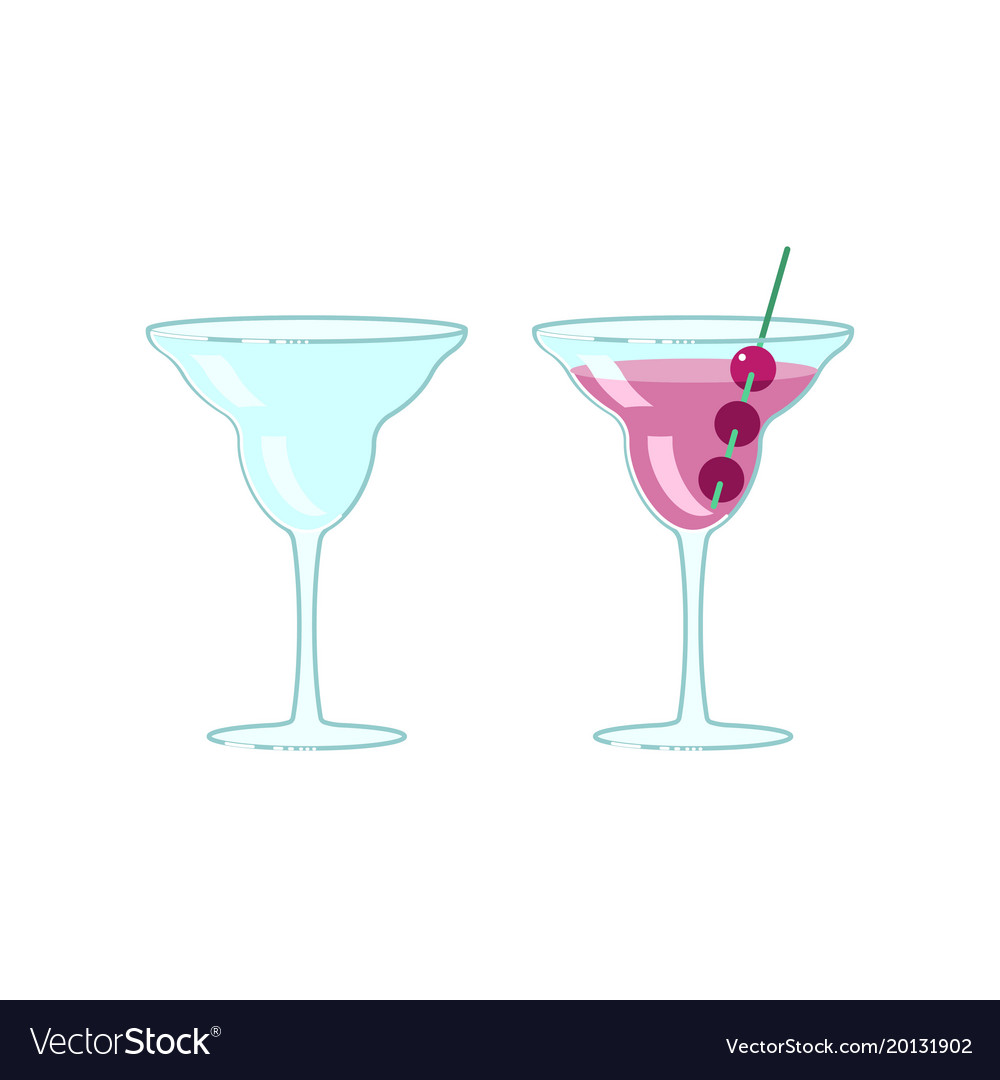 Wineglass and exotic cocktail